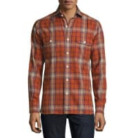 Tom FordFlannel Check Shirt, Red