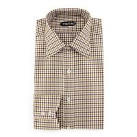 Tom FordGingham Dress Shirt, Aubergine