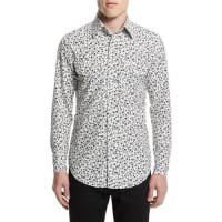 Tom FordWestern-Style Tailored Pansy-Print Sport Shirt, White