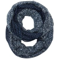Tom TailorDamen Umschlagtuch Print Mix Loop, Blau (Real Navy Blue 6593), One size