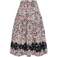 Tomas MaierSevilla Lace-trimmed Printed Cotton-poplin Skirt - Black