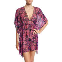 Tommy BahamaJacobean Floral Tunic Coverup