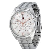 Tommy Hilfiger1791186 Mens Silver Dial Analog Quartz Watch