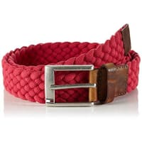Tommy HilfigerAustin Belt, Cinturón para Hombre, Rot (Barberry-PT 692), 95 cm