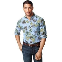 Tommy HilfigerFinal Sale-New York Fit Islander Shirt - Light Indigo/Lime - S