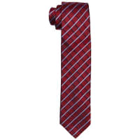 Tommy HilfigerTailored Tie 7cm TTSCHK16301, Cravatta Uomo, Rot (615), Taglia Unica
