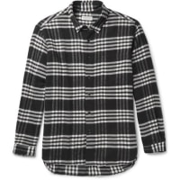 TomorrowlandPlaid Cotton-flannel Shirt - black