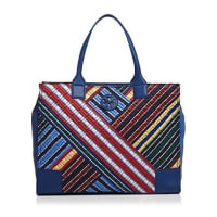 Tory BurchElla Quilted Stripe Tote