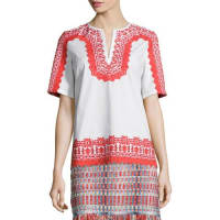 Tory BurchIsla Short-Sleeve Embroidered Tunic