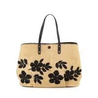 Tory BurchKerrington Straw Square Tote Bag, Natural