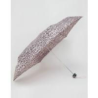 TotesMini Flat Thin Umbrella In Leopard Print - Pink/choc leopard p