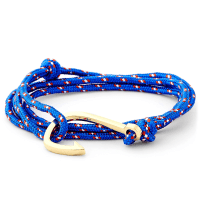 TrendhimLjusblått/Guld Fiskekrok Armband