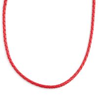 Trendhim3 mm Rött Flätat Läderhalsband