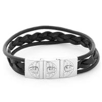 TrendhimSvart Calavera Armband