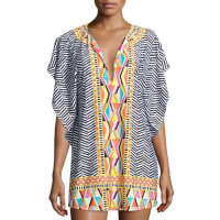 Trina TurkBrasilia Printed Tunic Coverup, Multicolor