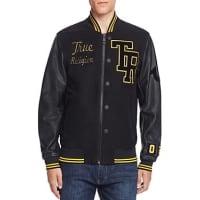 True ReligionCollegiate Moleskin Letter Jacket