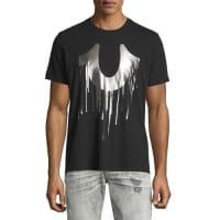 True ReligionDrip-Effect Horseshoe Graphic T-Shirt