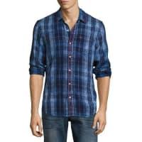 True ReligionPlaid Denim Pocket Shirt, Indigo
