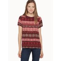 TwikPeter Pan collar printed blouse