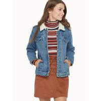 TwikSherpa collar jean jacket
