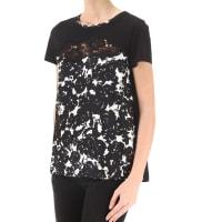 Twin-SetT-Shirt for Women On Sale, Black, Cotton, 2016, 2 4 6