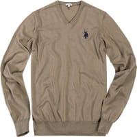 U.S.Polo AssociationHerren Pullover Baumwolle beige