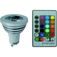 UGELED Colour Changing Lamp 5W GU10 in RGB w Remote Control Globe Bulb