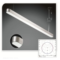 UGELED Pendant Light in Aluminium 160cm Styled
