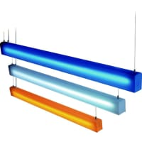 UGEPendant Fluorescent Light 28W in Orange 120cm UGE Lighting