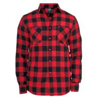 Urban ClassicsChecked Flannel Chemise noir/rouge