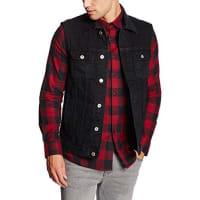 Urban ClassicsDenim Vest, Chaleco Para Hombre, Negro (Blackraw 12), X-Large