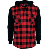 Urban ClassicsCapuche Checked Flannel Chemise noir/rouge