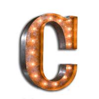 Urban IndustrialistsLarge Vintage Letter Lights - C