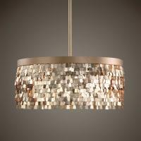 UttermostTillie 3 Light Textured Gold Pendant