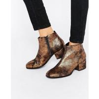 VagabondDaisy - Ankle-Boots in Bronze-Metallic mit Absatz - Gold
