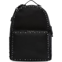 ValentinoBlack Stone and Rockstud Backpack