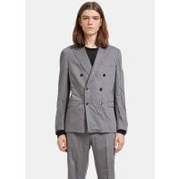ValentinoCreased Double-Breasted Blazer Jacket