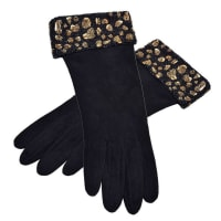 ValentinoRare And Gorgeous Valentino Suede And Beaded Gloves