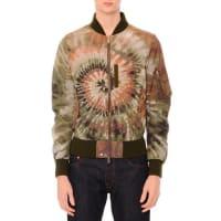 ValentinoTie-Dye Zip-Up Bomber Jacket, Multi