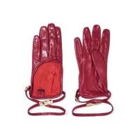 ValentinoStudded Leather Gloves - Burgundy