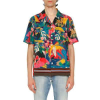 ValentinoTropical Short-Sleeve Shirt, Multicolor