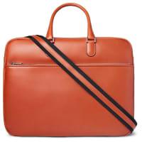ValextraSoft Avietta Pilotina Leather Briefcase - Red