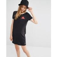 VansX Dabs Myla T-Shirt Dress With Peeking Pocket - Black