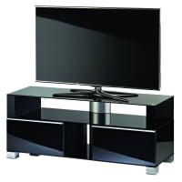 VCMPremium TV-Möbel Porano Milano / Tisch Rack Aluminium, schwarz, 140, Schwarz