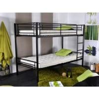 Venta-Unica.comCama litera DUOTIS II - 2 camas 90x190 cm - Negro