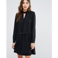 Vero ModaEsme Long Sleeve Dress - Black