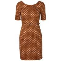 Vero ModaFeminines Kleid mit kurzen Ärmeln braun