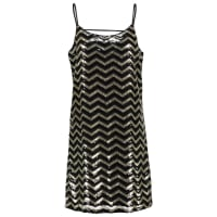 Vero ModaVMLINN SEQUIN Korte jurk black/gold