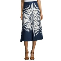 Veronica BeardIvy Pleated Midi Skirt, Navy/White