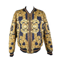 Versace35th Anniversary Versace Quilted Silk Bomber Jacket